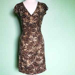 Fashion Bug Tiger Animal Print Dress